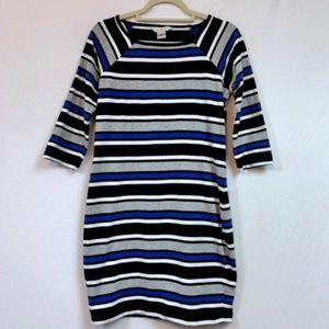 French Connection Multi Colored Striped Dress